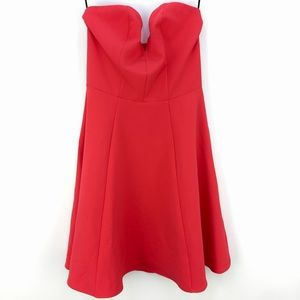 H&M Divided Coral Cocktail Strapless Mini Dress